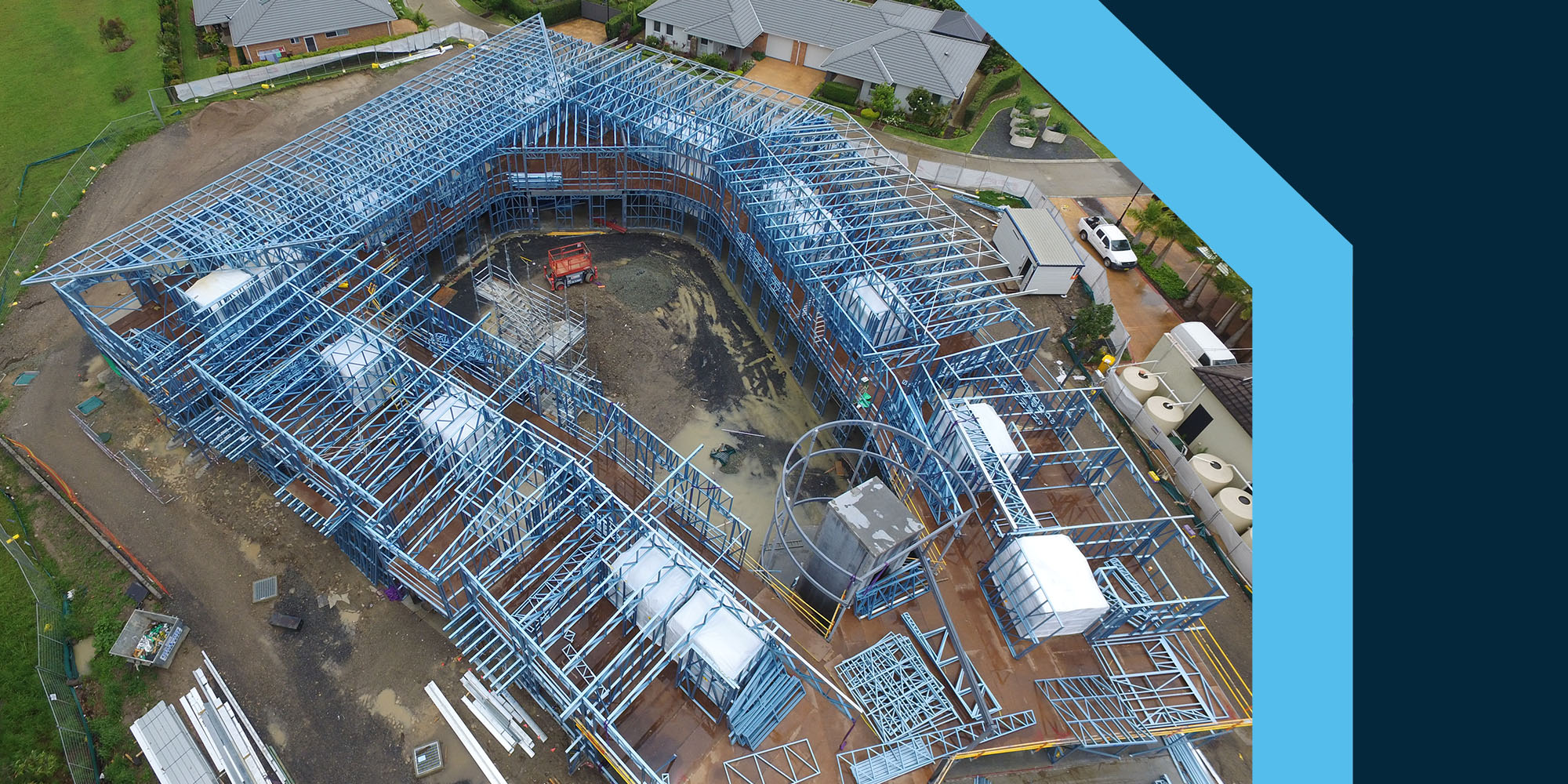 Topsteel Glengara Image - Frames Aerial Shot from Above